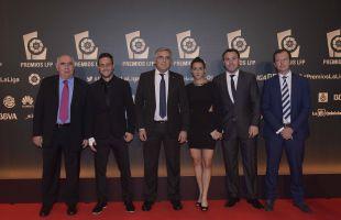 Delegación del Espanyol en la alfombra roja de la 'Gala de los Premios LFP 2014'