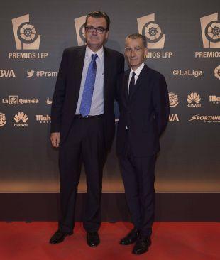 Representantes del CD Mirandés, en la alfombra roja