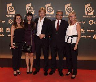 Representantes del RCD Mallorca en la alfombra roja