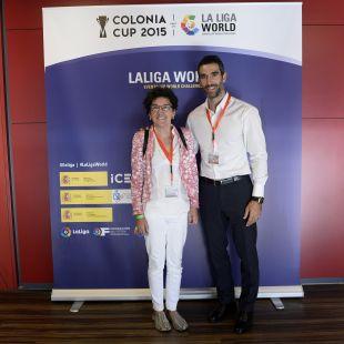 Fernando Sanz y Rocio Alberdi, en la Colonia Cup, enmarcado dentro de la Gira LFP World Challenge.
