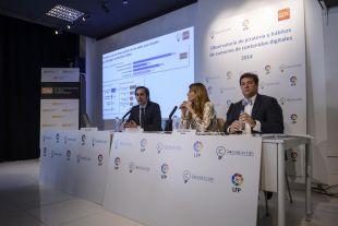 Iñigo Palau, Carlota Navarrete e Ignacio Martínez expresaron sus opiniones en el foro sobre un mal que amenaza al fútbol, la piratería