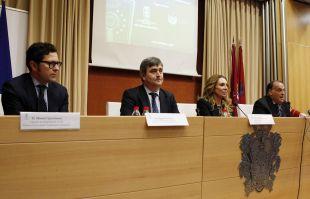 Manuel Quintanar, director de Integridad de la LFP, y el presidente Javier Tebas acudieron a la Jornada Jurídica sobre el juego limpio