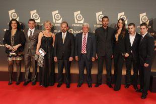 La delegación del Getafe CF, en la 'Gala de los Premios LFP 2014'