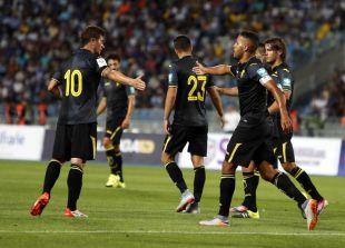 Así celebraron los jugadores del Granada el 2-1