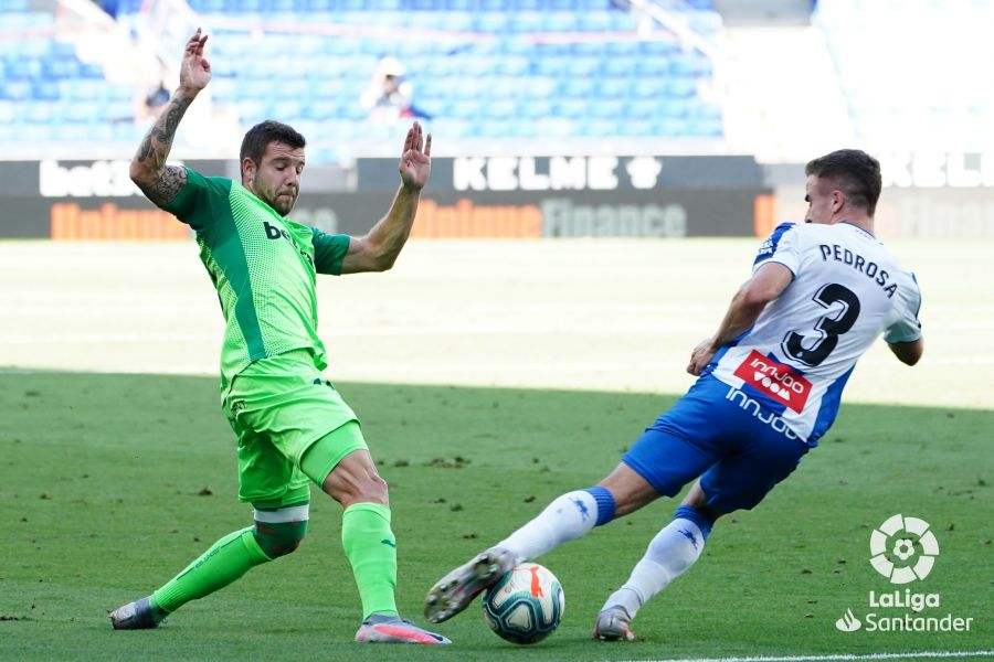 Pedrosa, en el duelo del Espanyol ante el Leganés (Foto: RCDE).