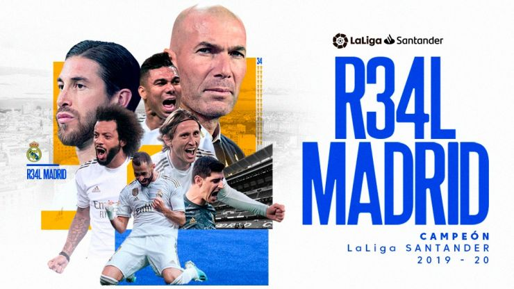 Real Madrid Win 2019 20 Laliga Santander Laliga