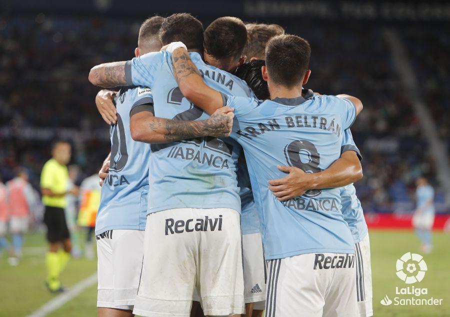 Celebración del gol de Aspas (Foto: LaLiga).