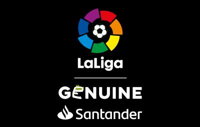 Logo LaLiga Genuine Santander Vertical Negativo