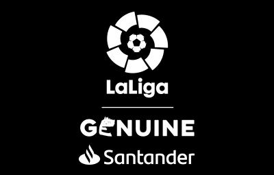 Logo LaLiga Genuine Santander Vertical Negativo Monocolor